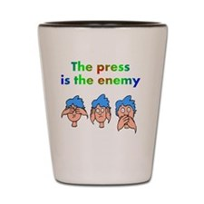 press-is-enemy Shot Glass