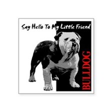 "little-friend3-dark Square Sticker 3"" x 3"""