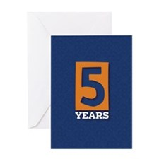 Anniversary Card: 5 Years Greeting Card