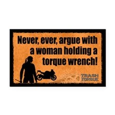Never Argue Rectangle Car Magnet