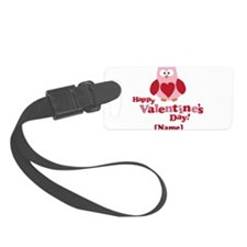 Personalized Valentines Day Owl Luggage Tag