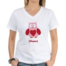 Personalized Plain Valentines Owl T-Shirt
