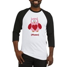 Personalized Plain Valentines Owl Baseball Jersey