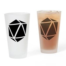 icosahedron black Drinking Glass