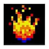 8-bit Fire Ball Tile Coaster