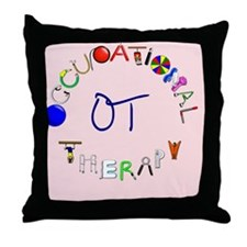 ot pink rect 2 Throw Pillow