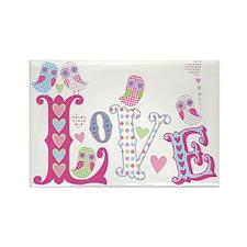 Sweet Little Love Owls design Rectangle Magnet