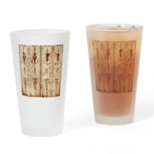 Shroud of Turin - Full Length Front Drinking Glass