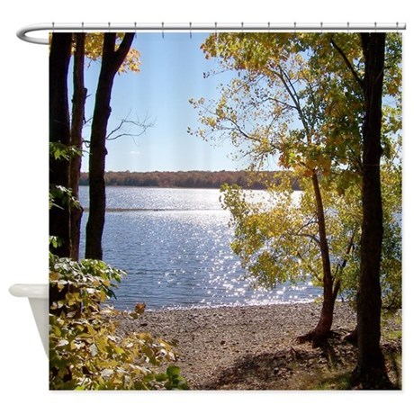 country bathroom d cor nature landscape scenery shower curtain