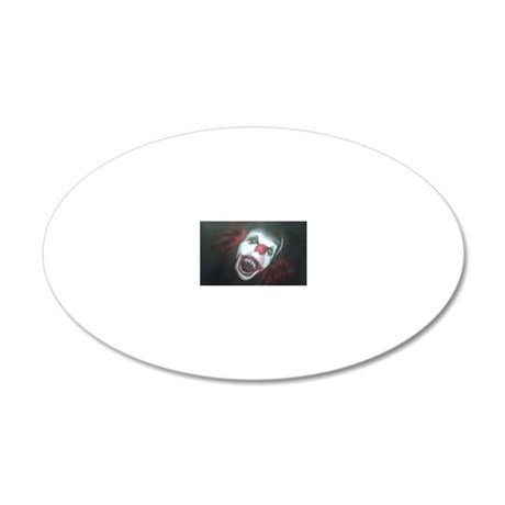 EvilClown 20x12 Oval Wall Decal