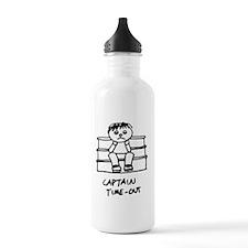 CaptainTimeOut_Black_2 Water Bottle