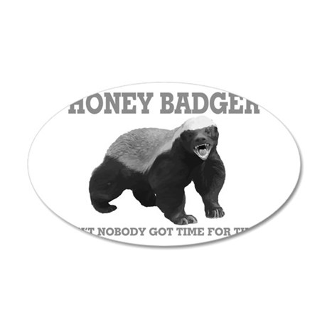 Honey Badger Ain't Nobody Got Time For That 20x12