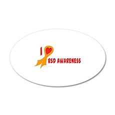 Orange I Heart/Support Rsd Awareness 38.5 x 24.5 O