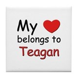 My heart belongs to teagan Tile Coaster