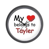 My heart belongs to tayler Wall Clock