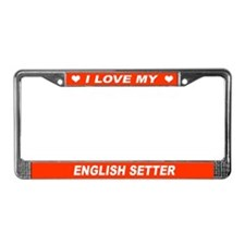 I Love my ES License Plate Frame