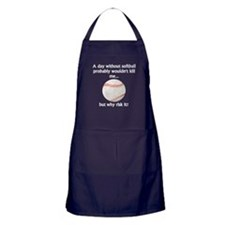 A Day Without Softball Apron (dark)