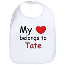 My heart belongs to tate Bib