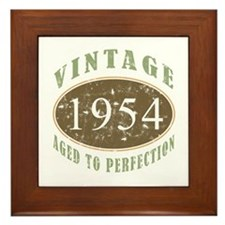1954 Vintage Birthday Framed Tile