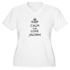 Keep Calm and Love Jaliyah Plus Size T-Shirt