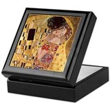 Gustav Klimt Art Keepsake Box - The Kiss
