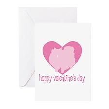 Pomeranian Valentine Greeting Cards (Pk of 10)
