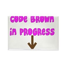 Code Brown In Progress PINK Rectangle Magnet