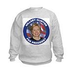 Hillary Clinton for President (Front) Kids Sweatsh