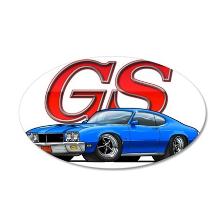 BuickGS_blue 35x21 Oval Wall Decal