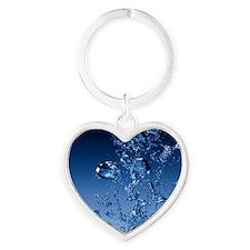 bubbles Heart Keychain