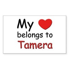 My heart belongs to tamera Rectangle Decal