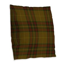 Finnegan Tartan Burlap Throw Pillow