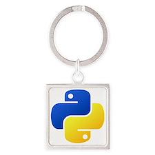 Python Logo Shirt Square Keychain