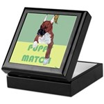 Puppy Boxer in Ear Tapes Keepsake Box