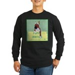 Puppy Boxer in Ear Tapes Long Sleeve Dark T-Shirt