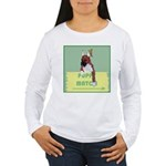 Puppy Boxer in Ear Tapes Women's Long Sleeve T-Shi