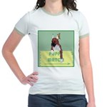 Puppy Boxer in Ear Tapes Jr. Ringer T-Shirt