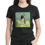 Puppy Boxer in Ear Tapes Women's Dark T-Shirt