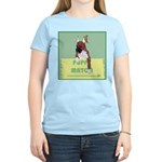 Puppy Boxer in Ear Tapes Women's Pink T-Shirt