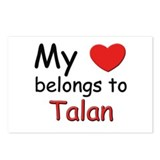 My heart belongs to talan Postcards (Package of 8)