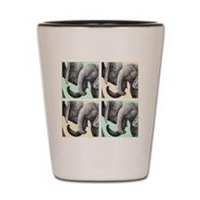 African Elephant Calves Shot Glass