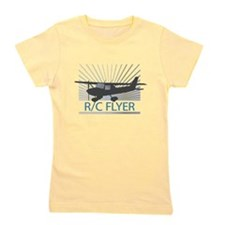RC Flyer Hign Wing Airplane Girl's Tee