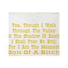 blk_Meanest_SOB_Valley3 Throw Blanket