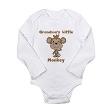 Grandma's Little Monkey Long Sleeve Infant Bodysui
