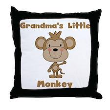 Grandma's Little Monkey Throw Pillow