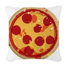 pizza-01 Woven Throw Pillow