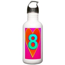 LUV8(large poster) Water Bottle