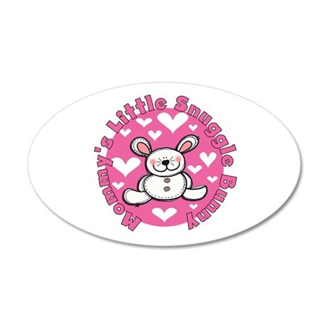 Mommy's Snuggle Bunny 20x12 Oval Wall Decal