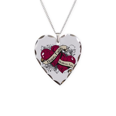 Sickle Cell Anemia Hope Necklace Heart Charm