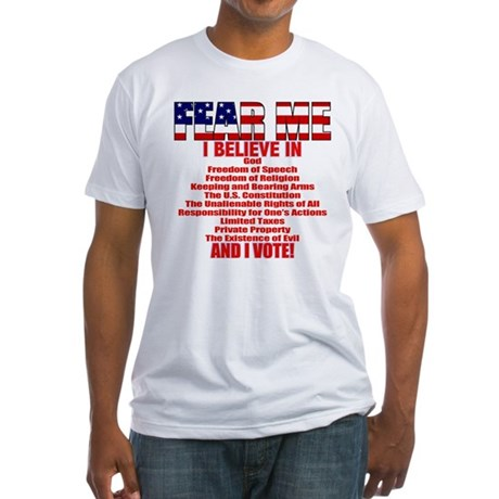 """I Believe"" Conservative Fitted T-Shirt"